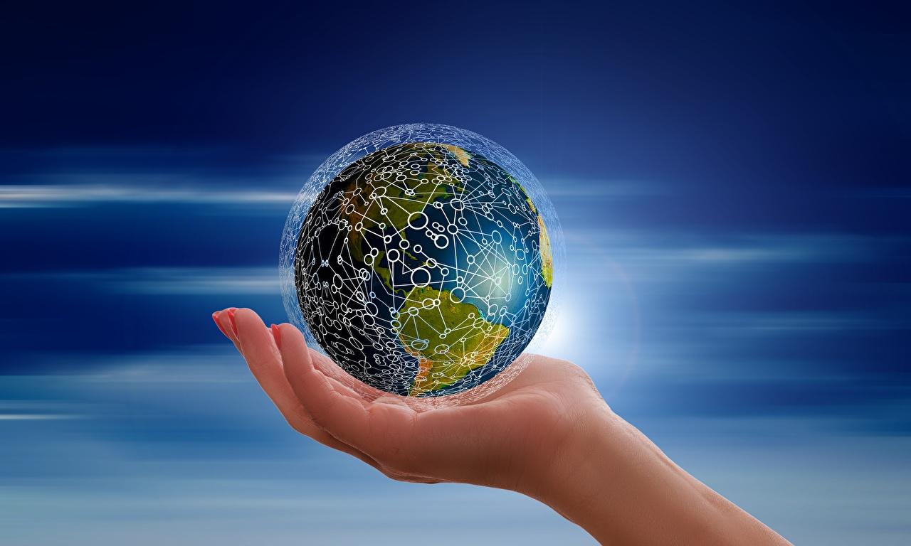 Фотография земли Руки Земля рука