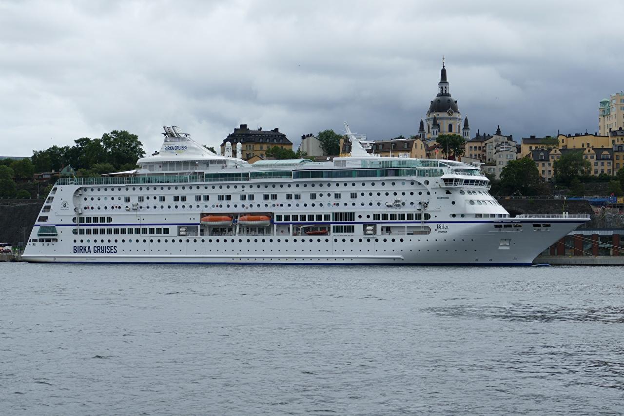 Фотографии Стокгольм Швеция Круизный лайнер Birka Cruises город Города