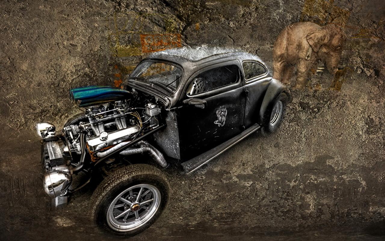 Картинка Ретро креативные старые Автомобили винтаж старинные Креатив оригинальные авто старая Старый машины машина автомобиль