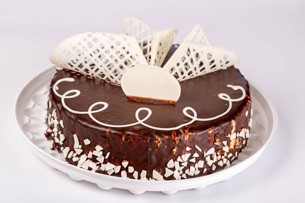 Фотографии Шоколад Торты Еда Серый фон Дизайн Пища Продукты питания сером фоне дизайна