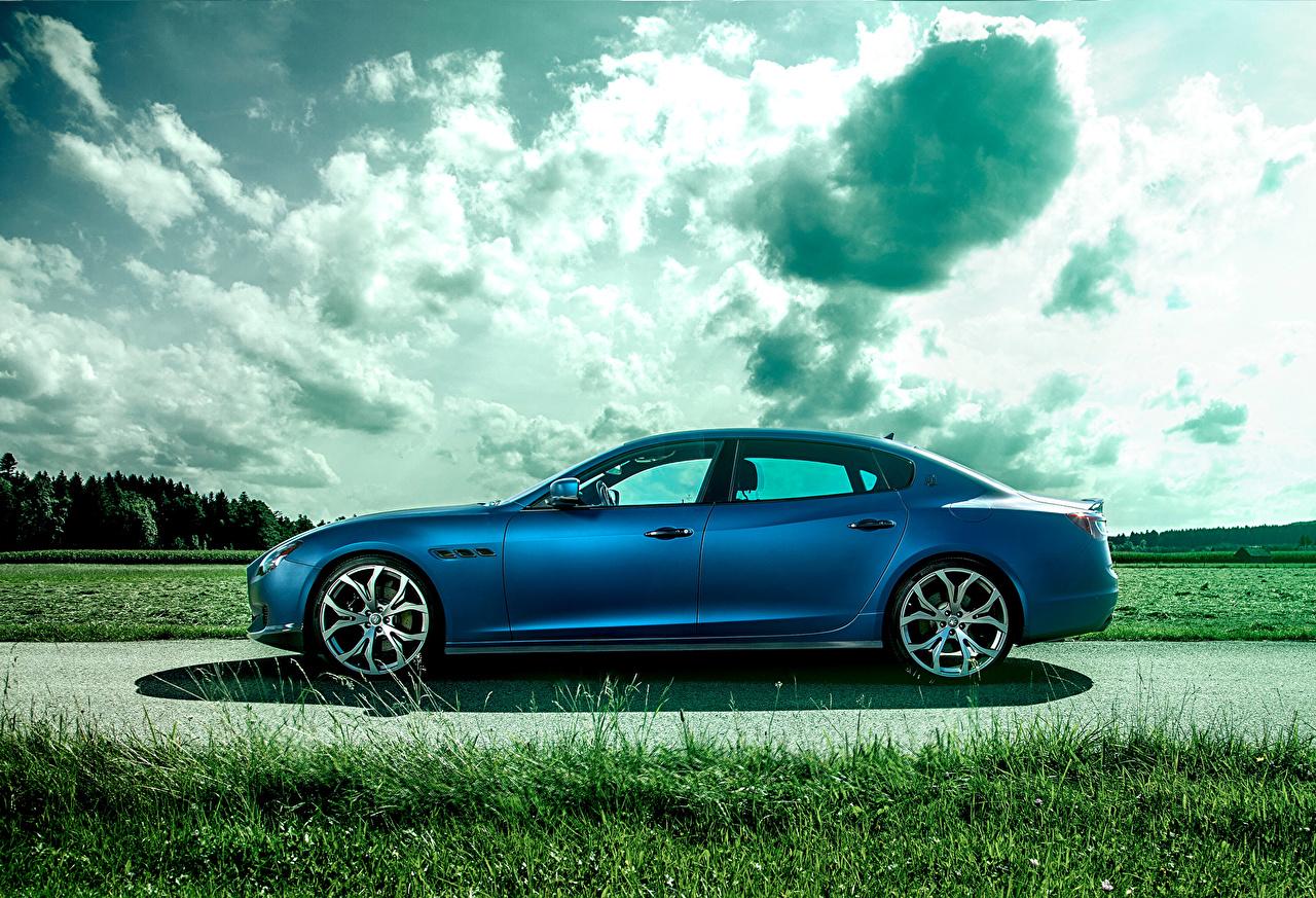 Картинки Стайлинг Мазерати 2014 Quattroporte (Novitec) роскошный голубые Сбоку Автомобили Maserati Тюнинг дорогие дорогой дорогая люксовые роскошная Роскошные голубых Голубой голубая авто машина машины автомобиль