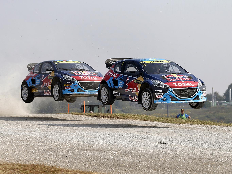 Фото Peugeot Стайлинг 2014 208 WRX вдвоем Автомобили Пежо Тюнинг 2 два две Двое авто машины машина автомобиль