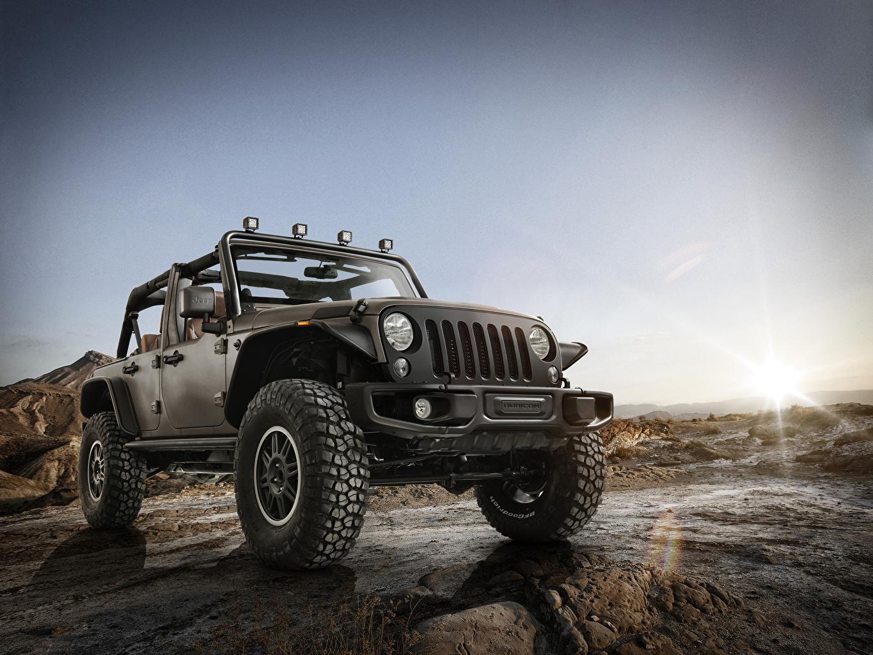 Фотография Jeep Wrangler 2014 Unlimited Rubicon машина Джип авто машины Автомобили автомобиль