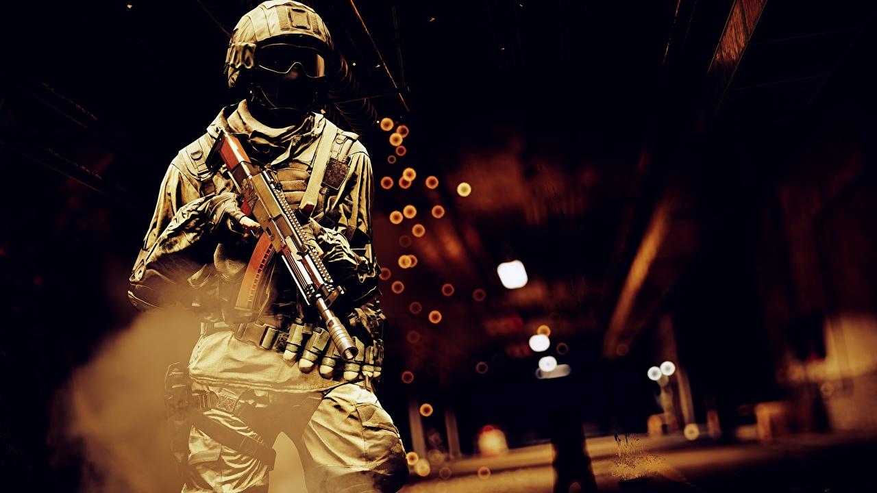 Фотография Battlefield 4 Солдаты Автоматы Игры