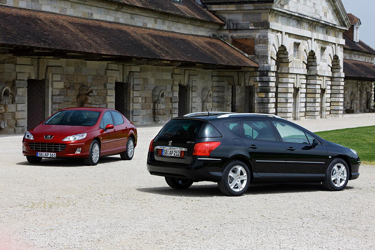 Картинка Пежо Peugeot 407, Peugeot 407 SW Двое машина 2 два две вдвоем авто машины Автомобили автомобиль