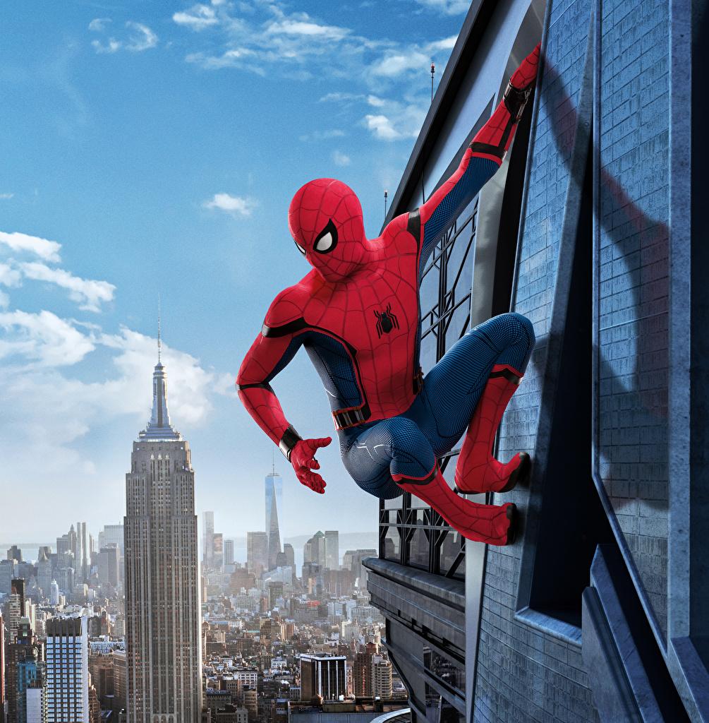 Фото Человек-паук: Возвращение домой Герои комиксов Человек паук герой Фильмы  для мобильного телефона