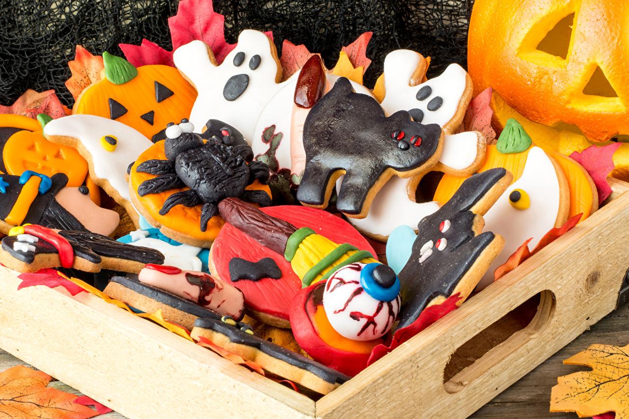 Картинки Хеллоуин Еда Печенье Выпечка Праздники дизайна Пища Продукты питания Дизайн