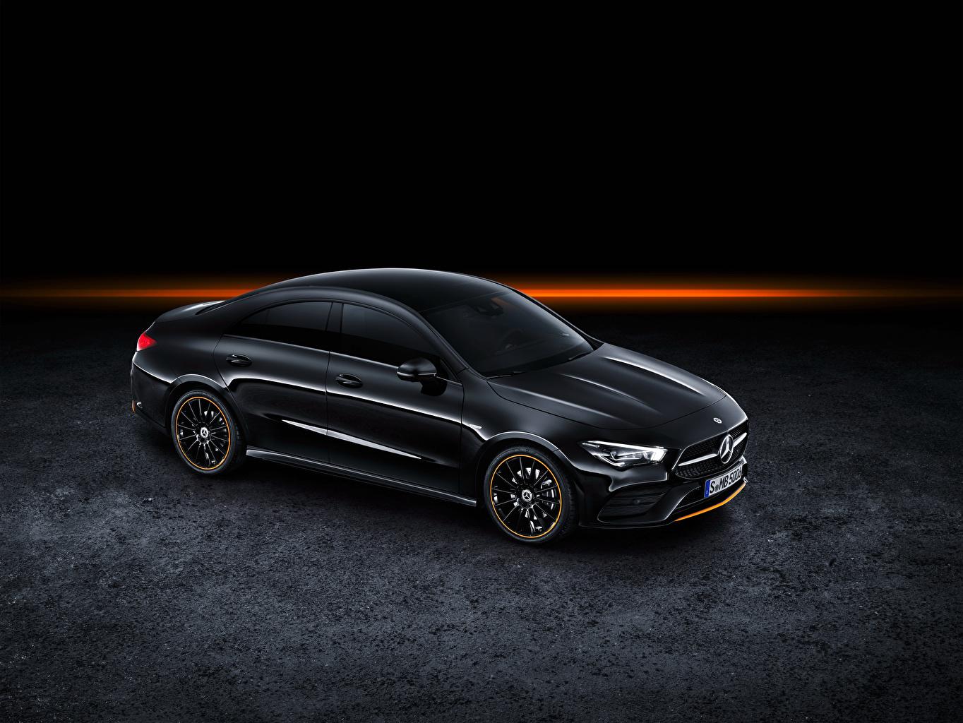 Фотография Mercedes-Benz 2019 CLA 250 AMG Line Edition Orange Art Worldwide Черный Авто Мерседес бенц Машины Автомобили