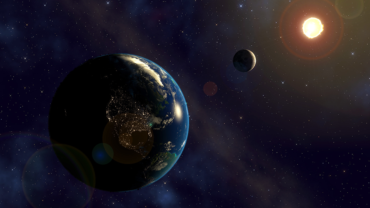 Луна солнце земля картинки