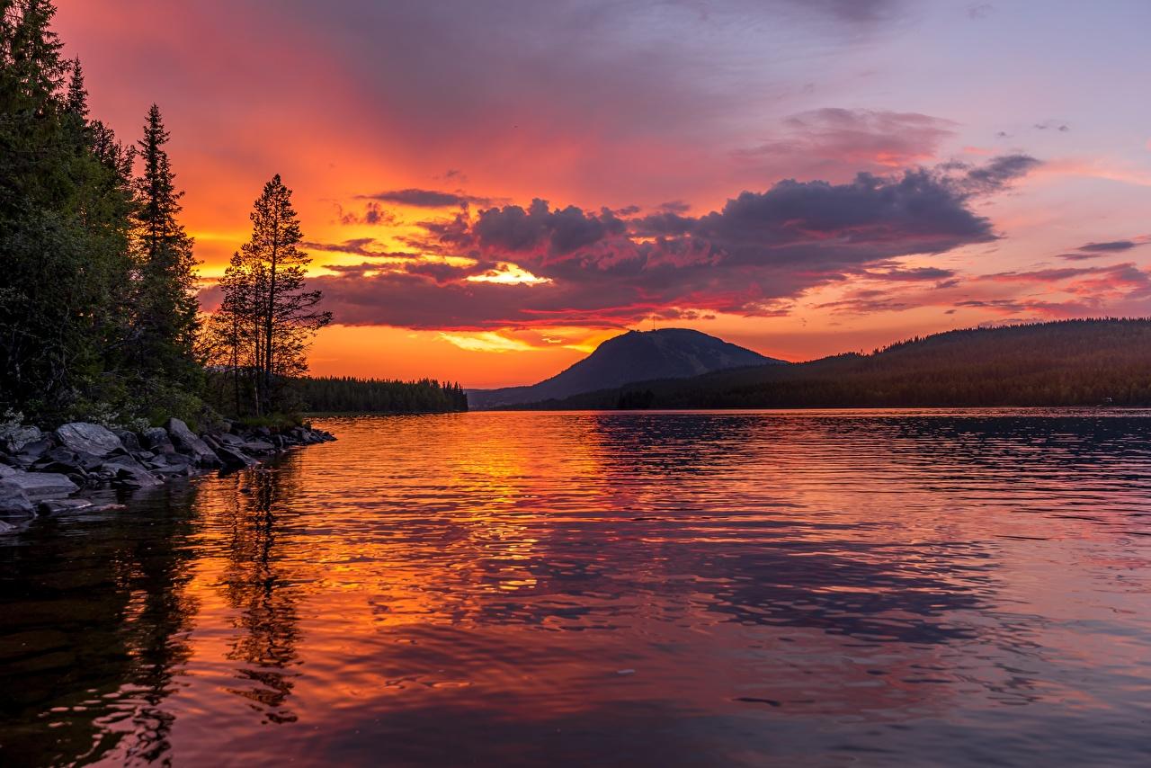 Обои для рабочего стола Горы Озеро Пейзаж Рассветы и закаты животное гора рассвет и закат Животные