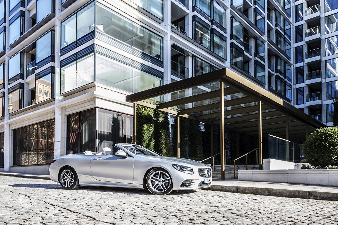 Фотография Мерседес бенц 2018-19 S 560 Cabriolet AMG Line Кабриолет серебряная Авто Mercedes-Benz кабриолета серебряный серебристая Серебристый Машины Автомобили