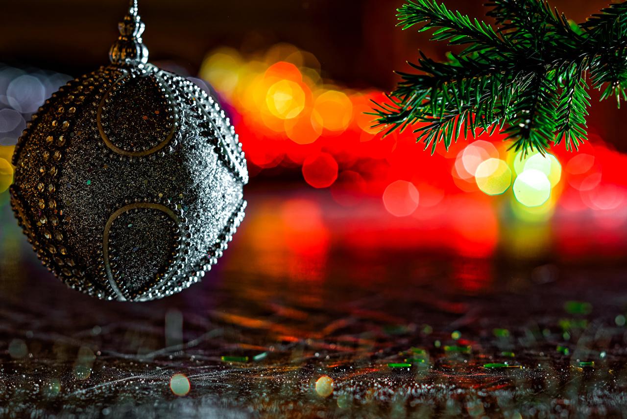 Фото Новый год Ветки Шарики Дизайн
