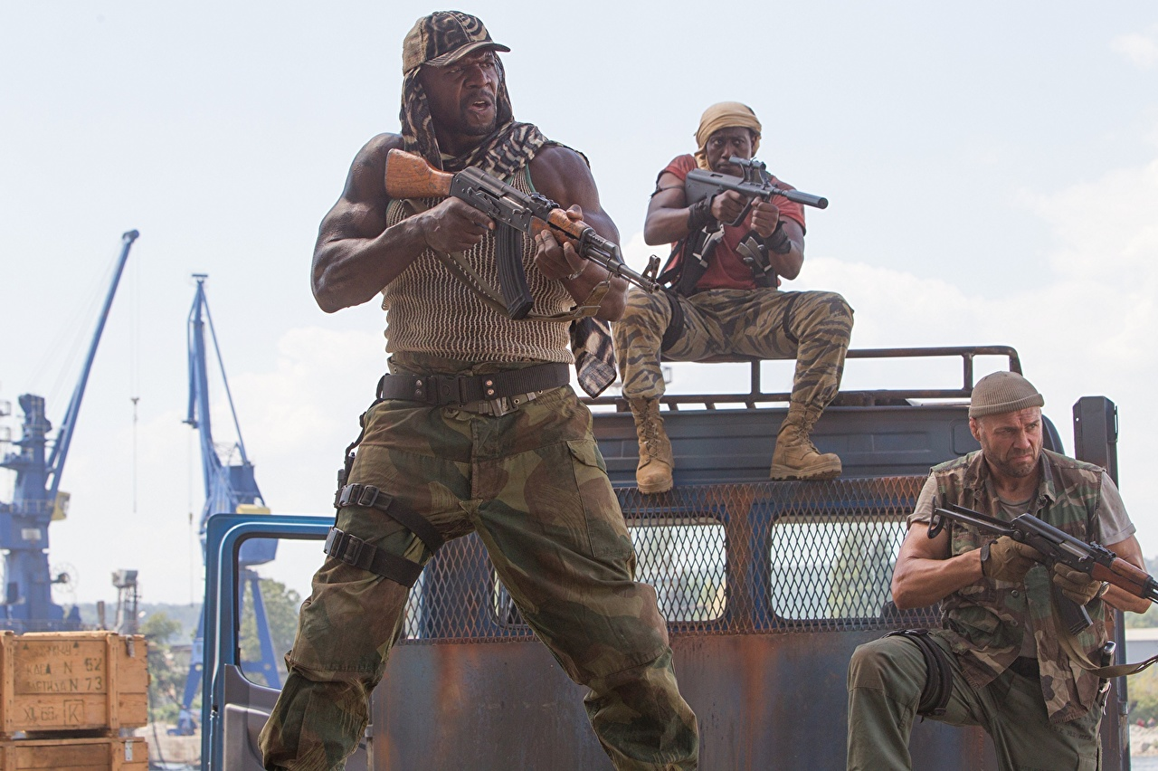 Картинки Неудержимые Wesley Snipes мужчина 3 Terry Crews Randy Couture Негр Фильмы Уэсли Снайпс Мужчины негры кино