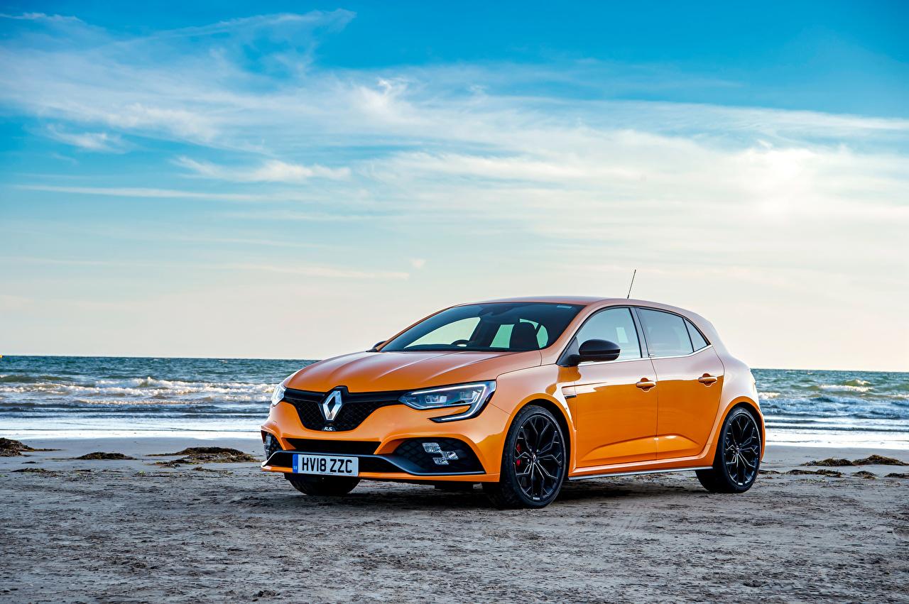 Обои Рено 2018 Megane R.S. 280 Cup оранжевых Металлик Автомобили Renault Оранжевый оранжевые оранжевая Авто Машины