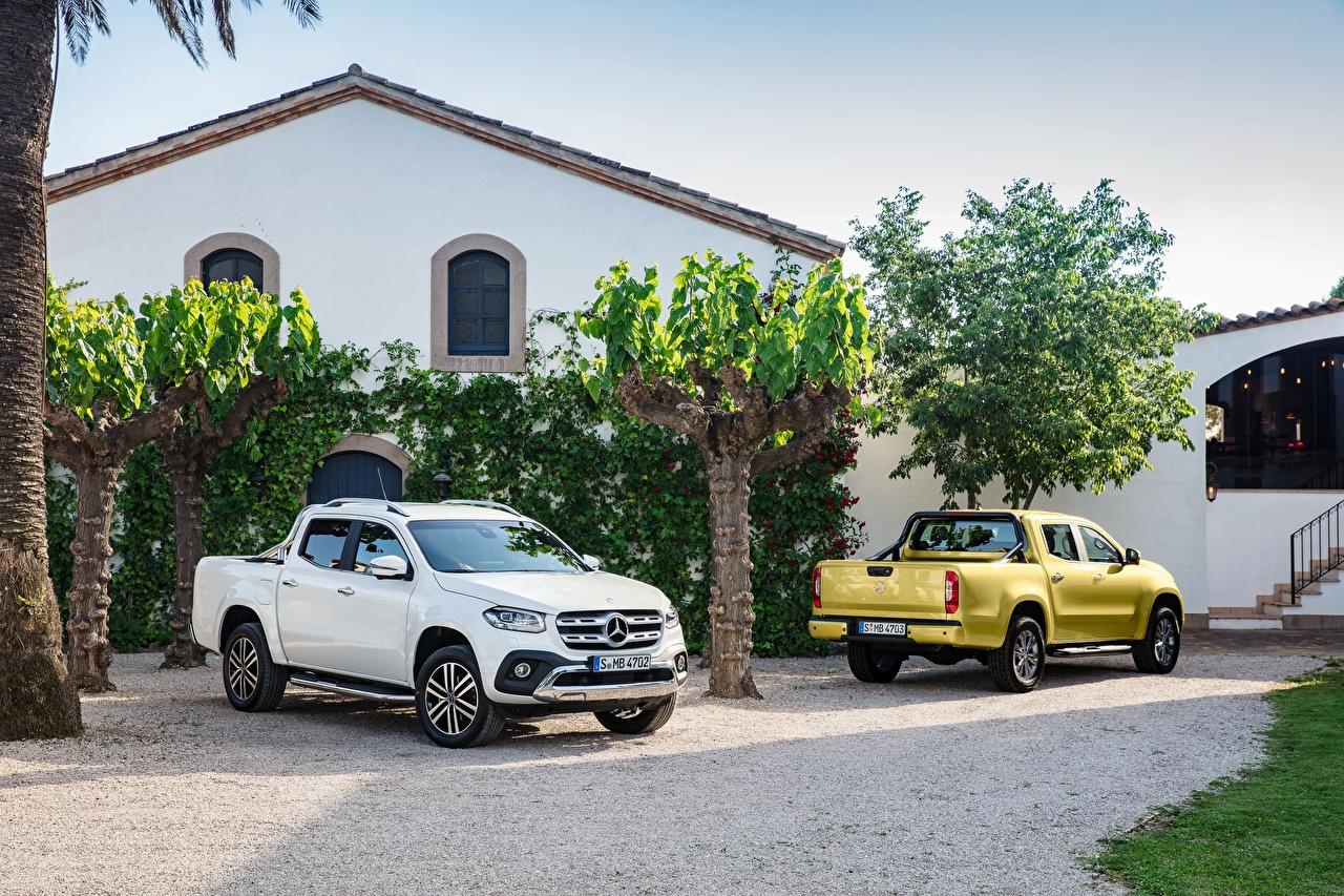 Фотографии Мерседес бенц X-Klasse Пикап кузов 2 Автомобили Mercedes-Benz два две Двое вдвоем авто машины машина автомобиль