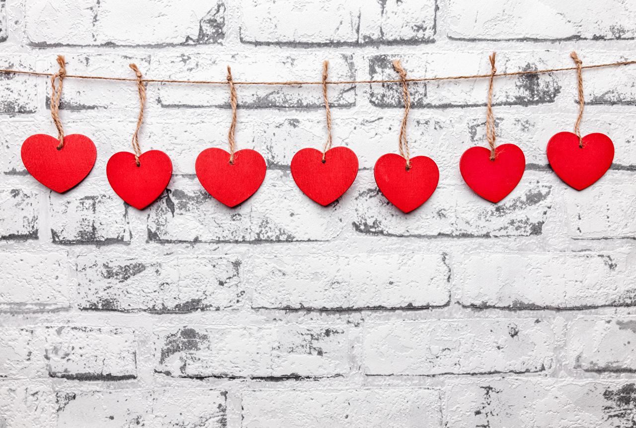 Обои День святого Валентина сердечко Красный стенка День всех влюблённых Сердце Стена