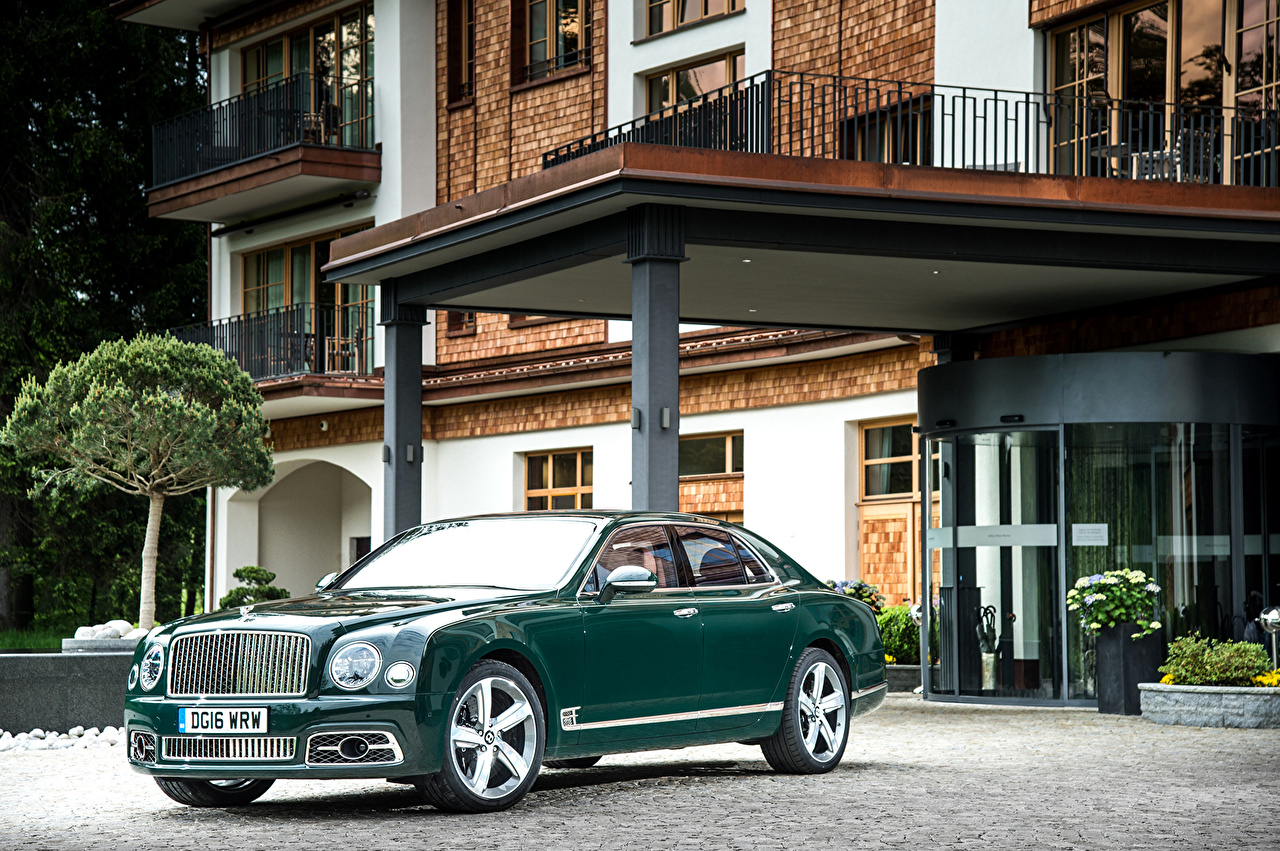 Фотографии Бентли 2016 Mulsanne Speed зеленых Металлик Автомобили Bentley Зеленый зеленые зеленая авто машина машины автомобиль
