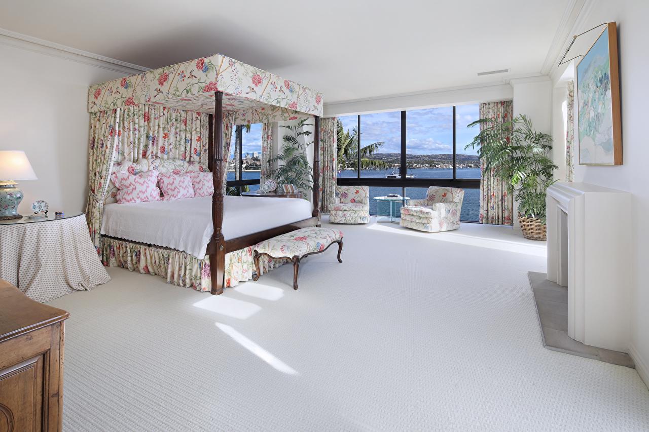 Картинки Спальня Интерьер Кресло Кровать подушка Дизайн спальни спальне постель кровати Подушки дизайна