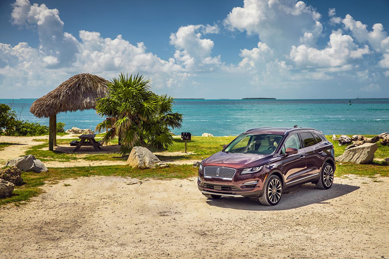 Картинка Lincoln 2019 MKC Black Label Бордовый Авто Металлик Машины Автомобили