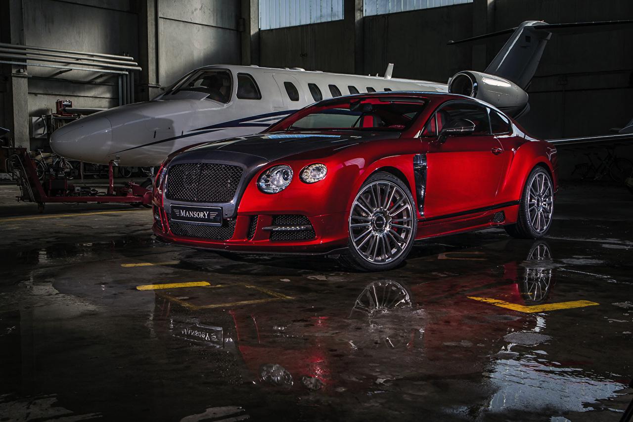 Фотография Бентли 2013 Mansory Continental GT Sanguis красных машины Bentley красная красные Красный авто машина Автомобили автомобиль