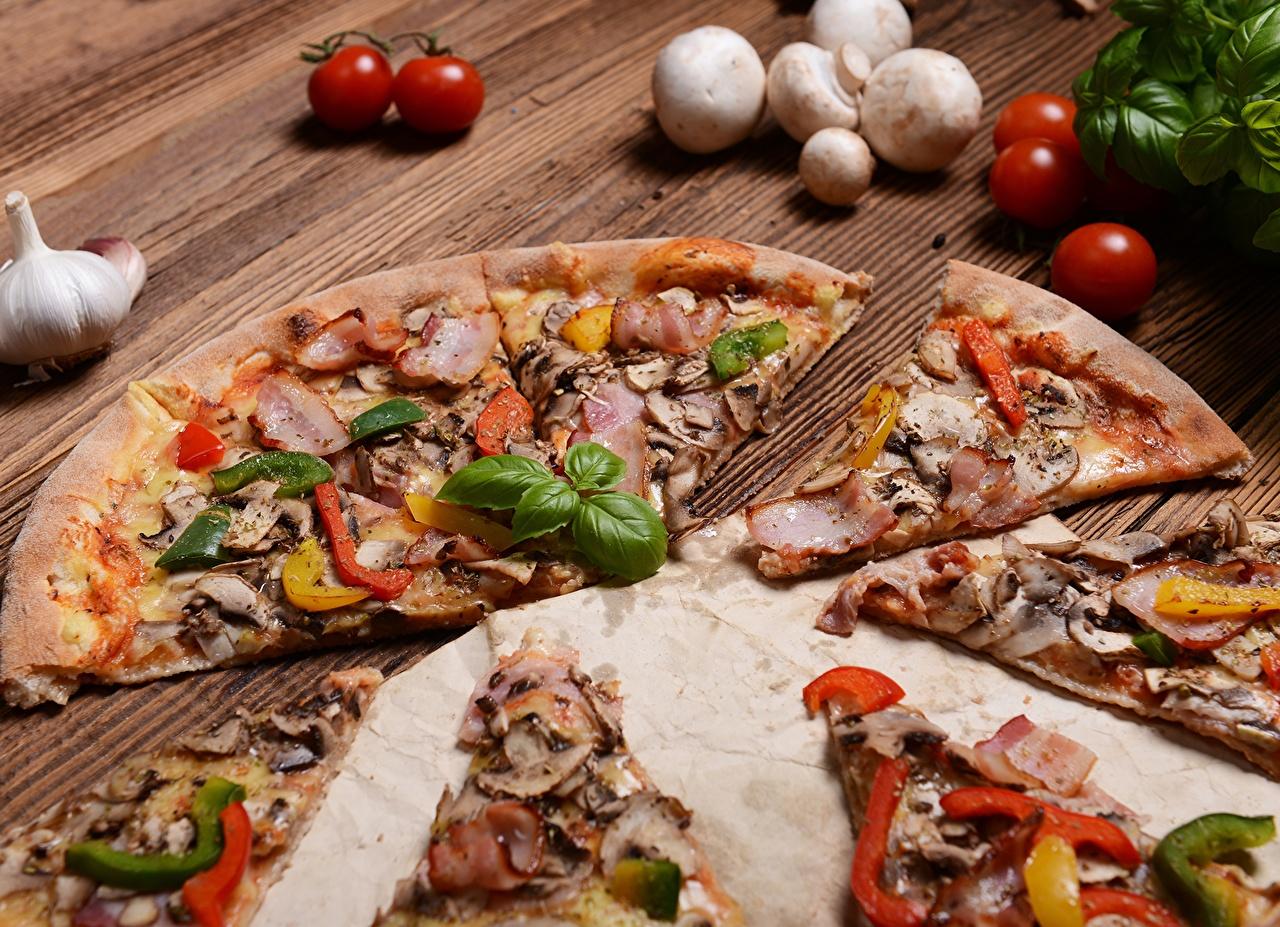 Картинка Пицца Быстрое питание Пища вблизи Фастфуд Еда Продукты питания Крупным планом