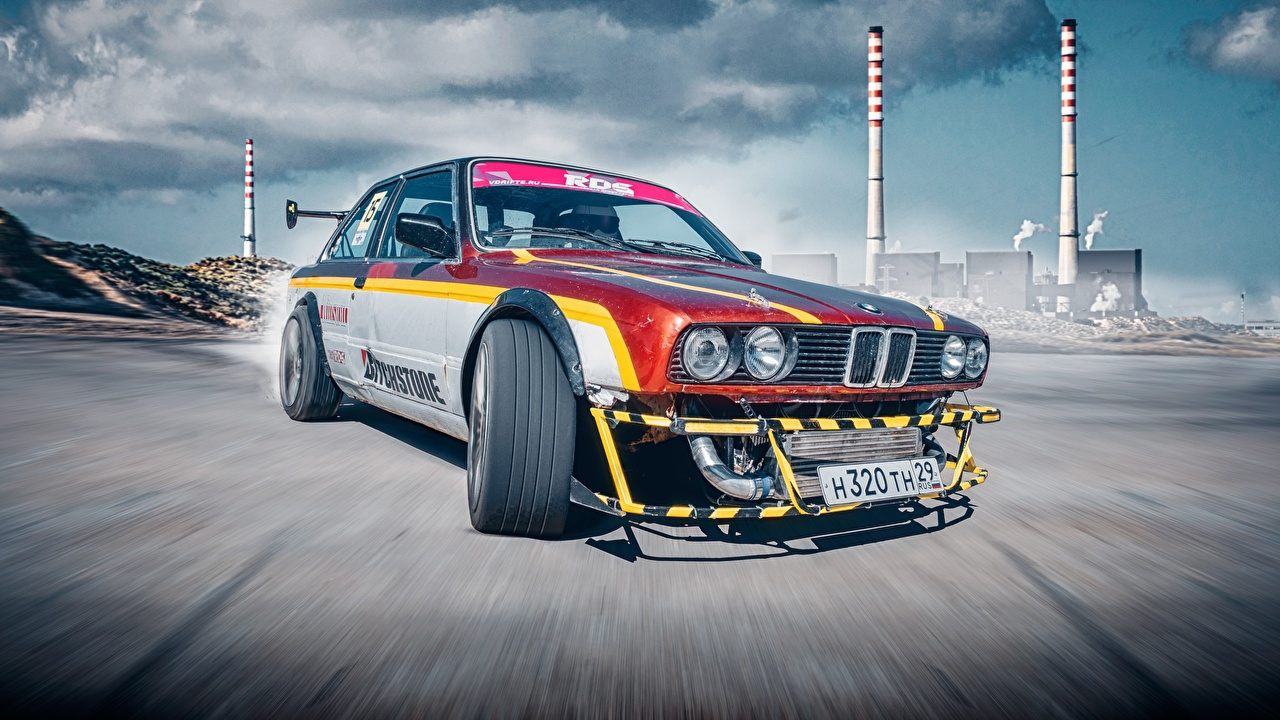 Фотографии BMW E30 3 Series Drifting Автомобили БМВ авто машина машины автомобиль