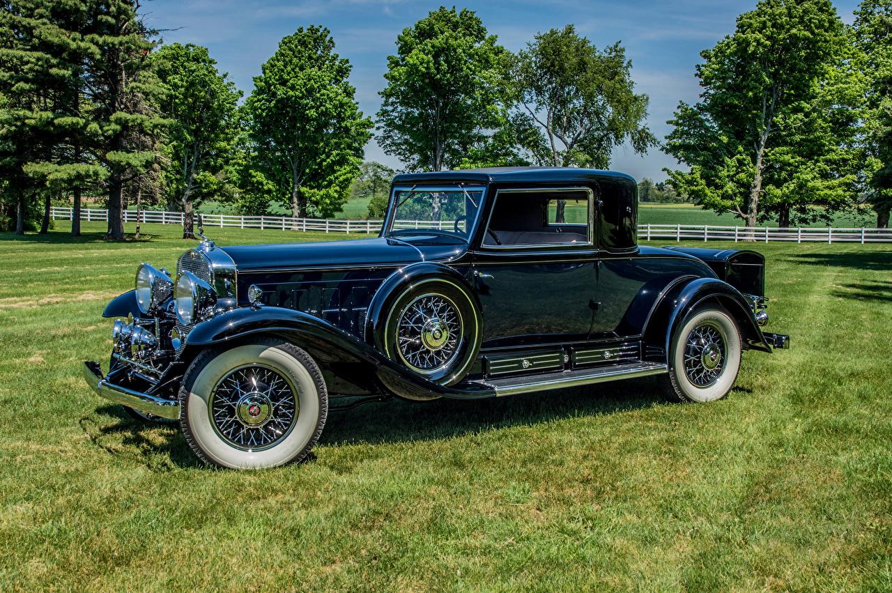 Фото Тюнинг Кадиллак 1931 V16 452-A Madame X Coupe by Fleetwood синие Ретро Металлик автомобиль Cadillac Стайлинг синих Синий синяя Винтаж старинные авто машина машины Автомобили