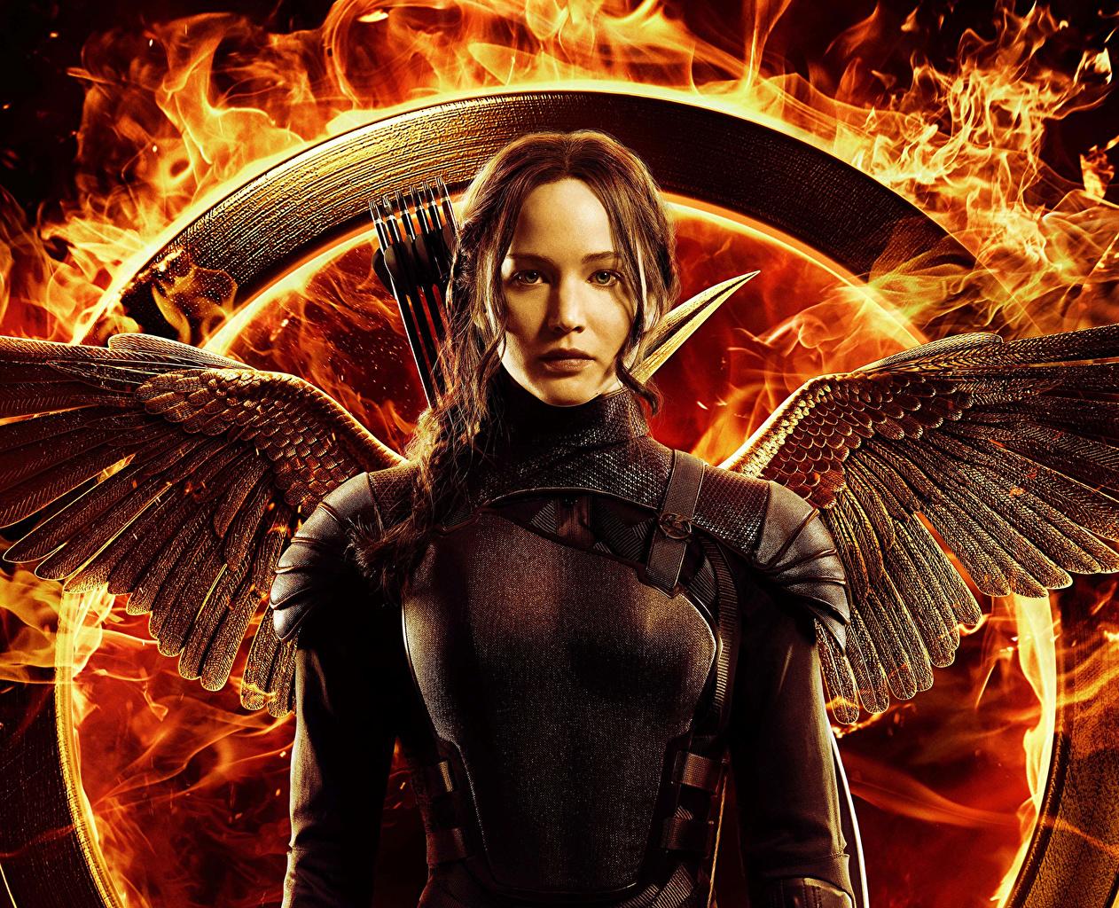 картинка голодные игры Jennifer Lawrence лучники Mockingjay