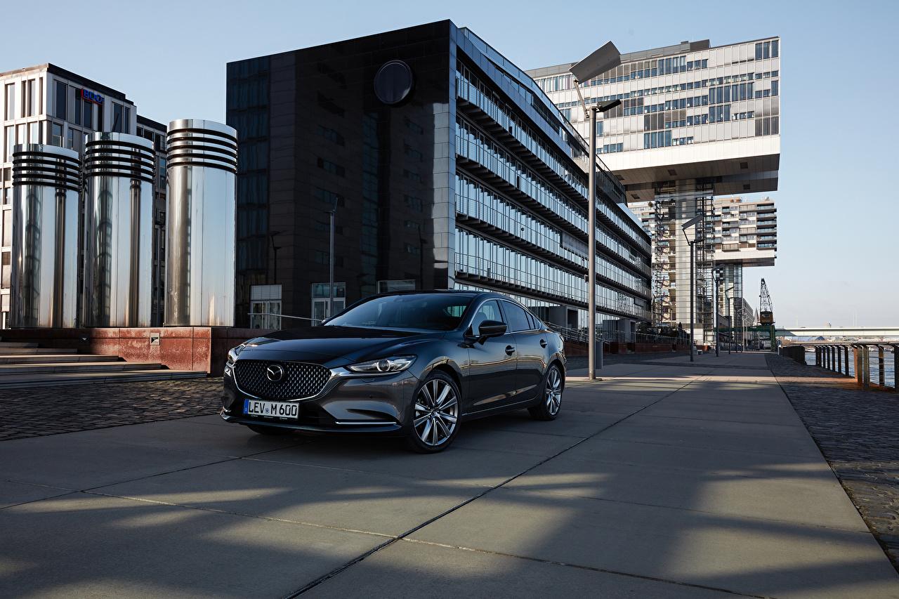 Фото Мазда 2018-19 Mazda 6 Worldwide Серый Металлик Автомобили серая серые авто машины машина автомобиль