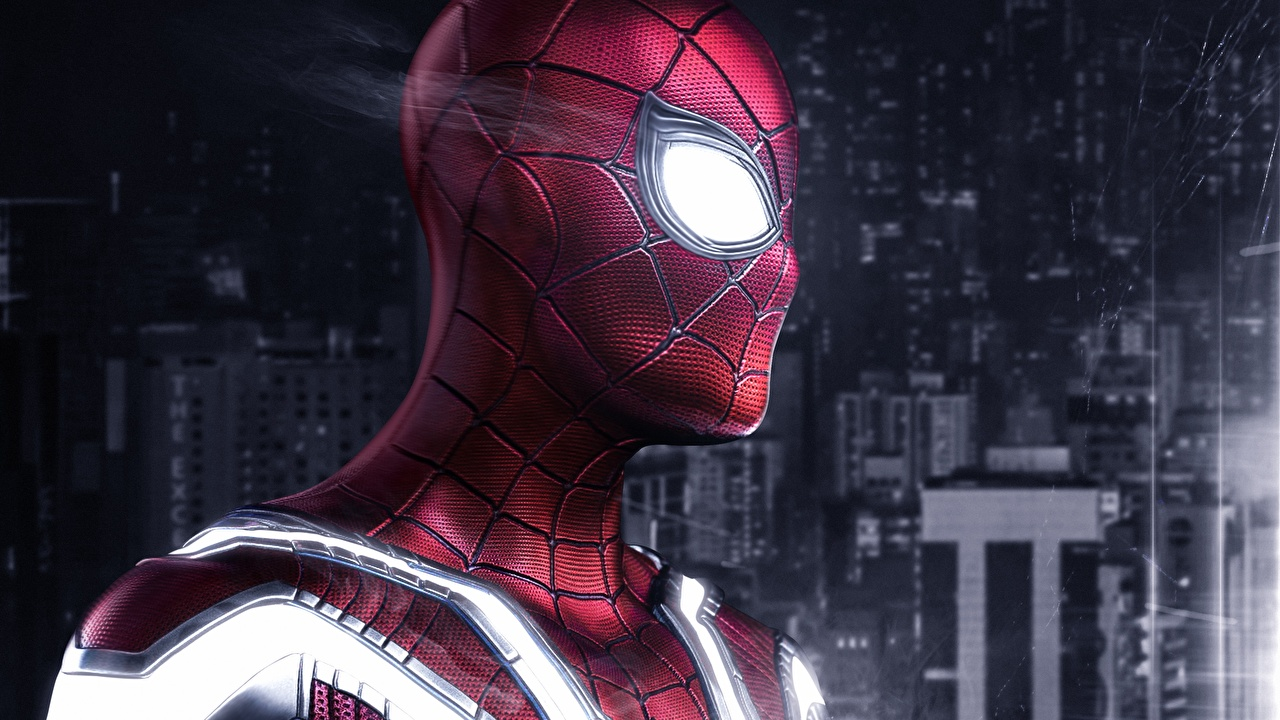 Обои для рабочего стола Человек паук герой Фантастика Голова Фэнтези головы