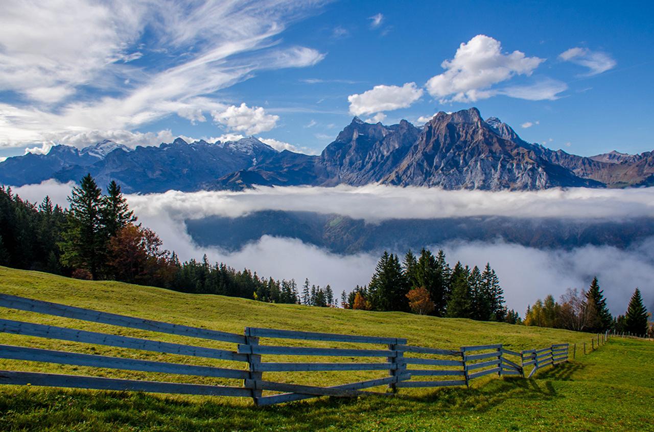 Обои швейцария, гора Нидерхорн, Mount Niederhorn, alps, Switzerland, альпы. Природа foto 17