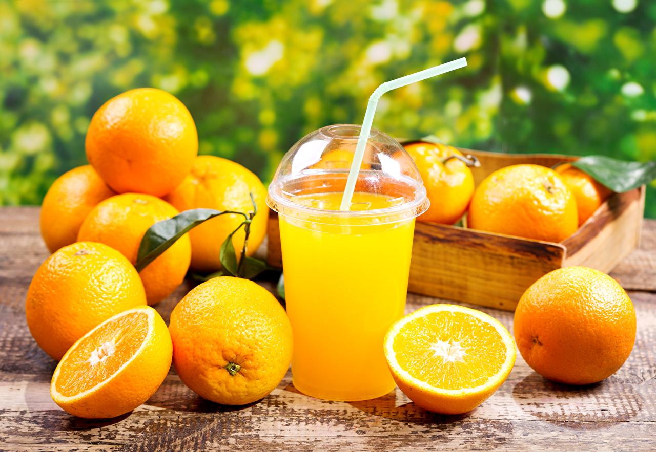 Фотография Сок Апельсин Стакан Еда Цитрусовые стакана стакане Пища Продукты питания
