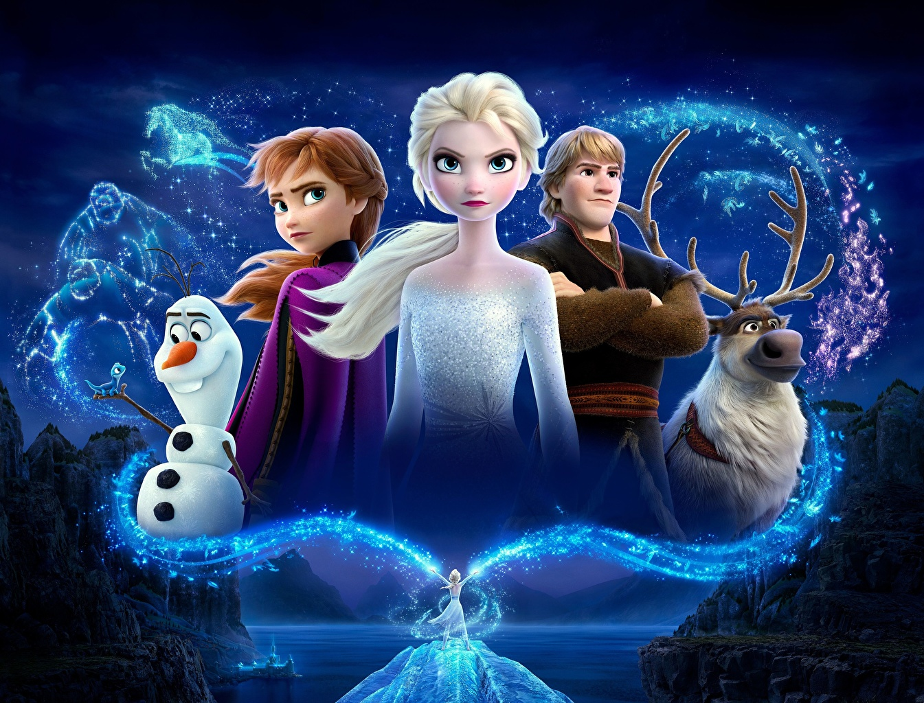 Фотография Дисней Холодное сердце Олени Парни Kristoff, Olaf, Sven, Anna, Elsa 3д Мультики молодые женщины Снеговики Disney юноша парень подросток мультик девушка Девушки 3D Графика Мультфильмы молодая женщина снеговик снеговика