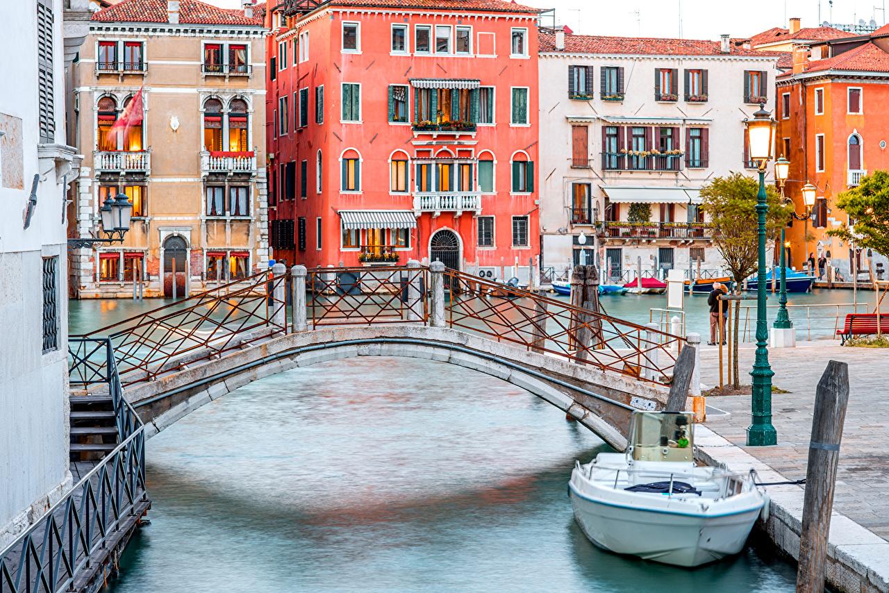 Обои дома, grand canal, водный канал, катера, венеция. Города foto 13