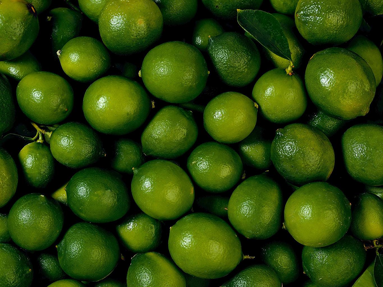 Картинка Лайм зеленая Фрукты Продукты питания Много Зеленый зеленые зеленых Еда Пища