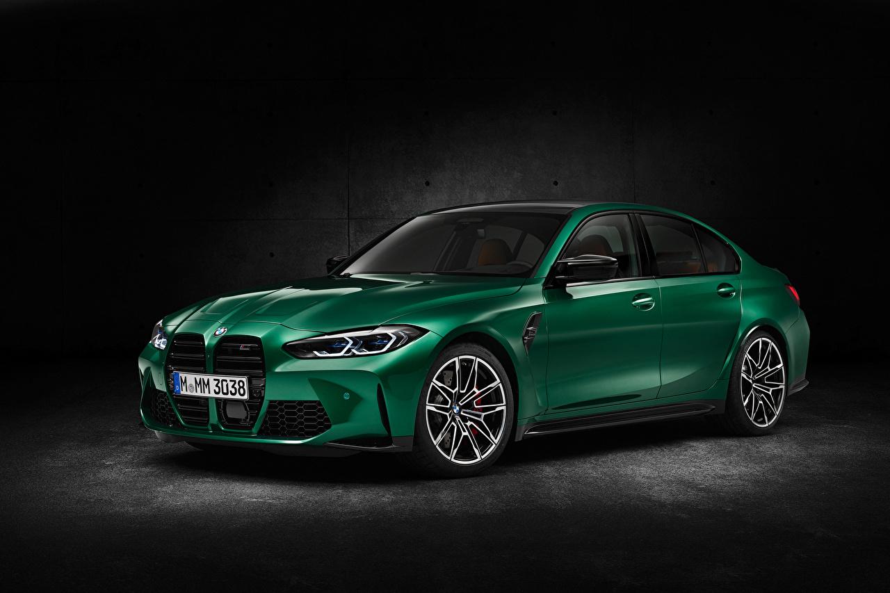 Фотография BMW M3 Competition, (G80), 2020 Зеленый Металлик Автомобили БМВ зеленая зеленые зеленых авто машины машина автомобиль