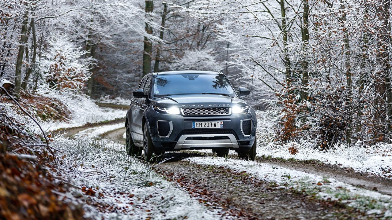 Фотография Range Rover Evoque Autobiography Si4 Спереди Автомобили Land Rover авто машины машина автомобиль