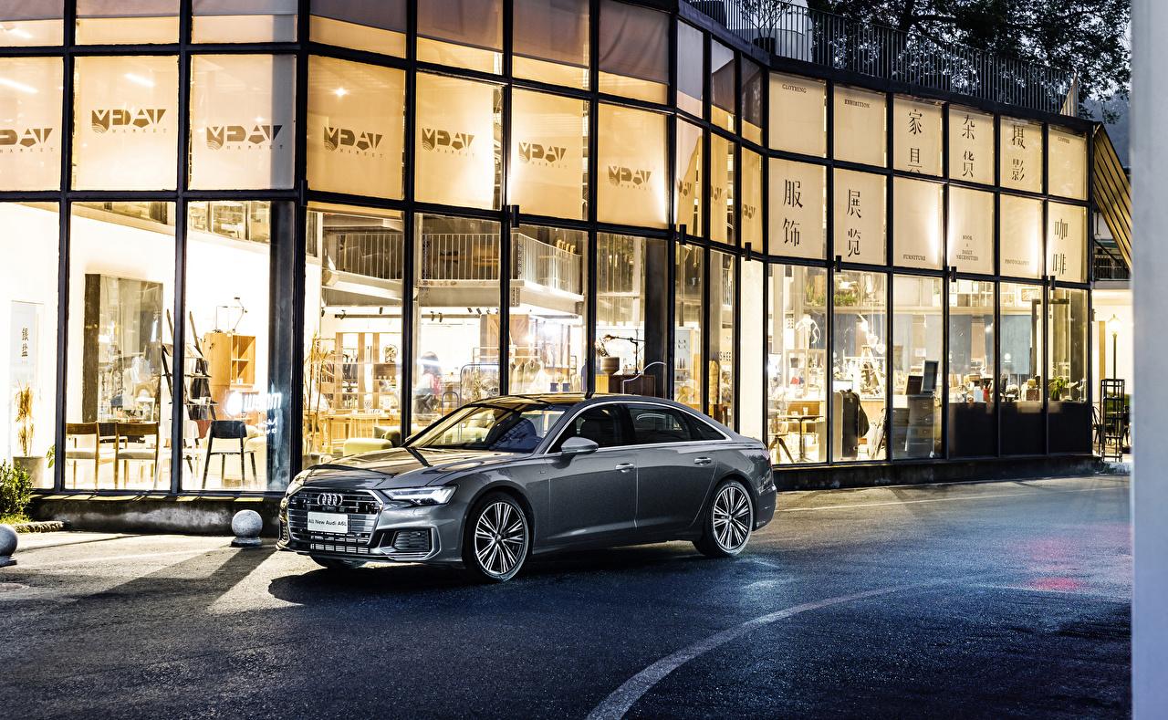 Фотография Ауди 2019-20 A6L 55 TFSI quattro S line серые машина Металлик Audi Серый серая авто машины автомобиль Автомобили