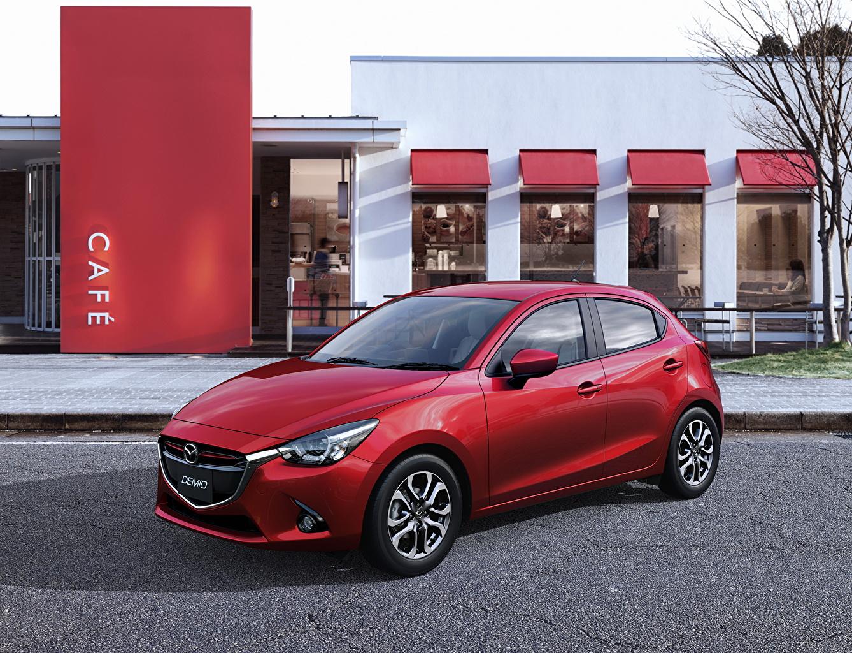 Фотография Mazda 2014 Demio Красный Металлик Автомобили Мазда красных красные красная авто машина машины автомобиль