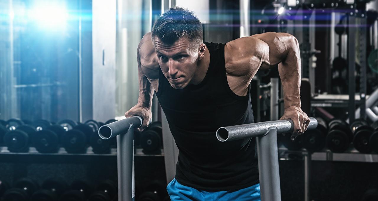 Обои для рабочего стола мужчина спортзале тренируется спортивные Руки Мужчины Спортзал Тренировка спортивный зал физическое упражнение Спорт спортивная спортивный рука