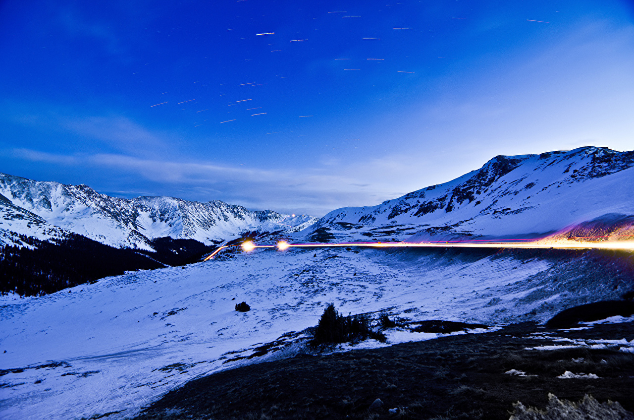 Фото Горы Природа Небо Снег гора снега снегу снеге