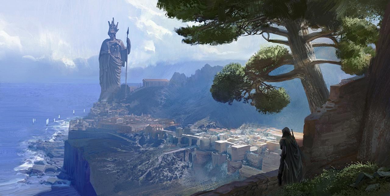 Фотографии Assassin's Creed Odyssey Памятники 2018 компьютерная игра Города Игры город