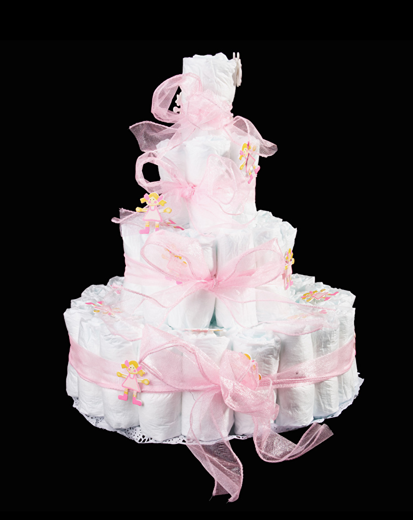 Картинка Торты Подарки Лента Черный фон Дизайн подарок подарков ленточка на черном фоне дизайна