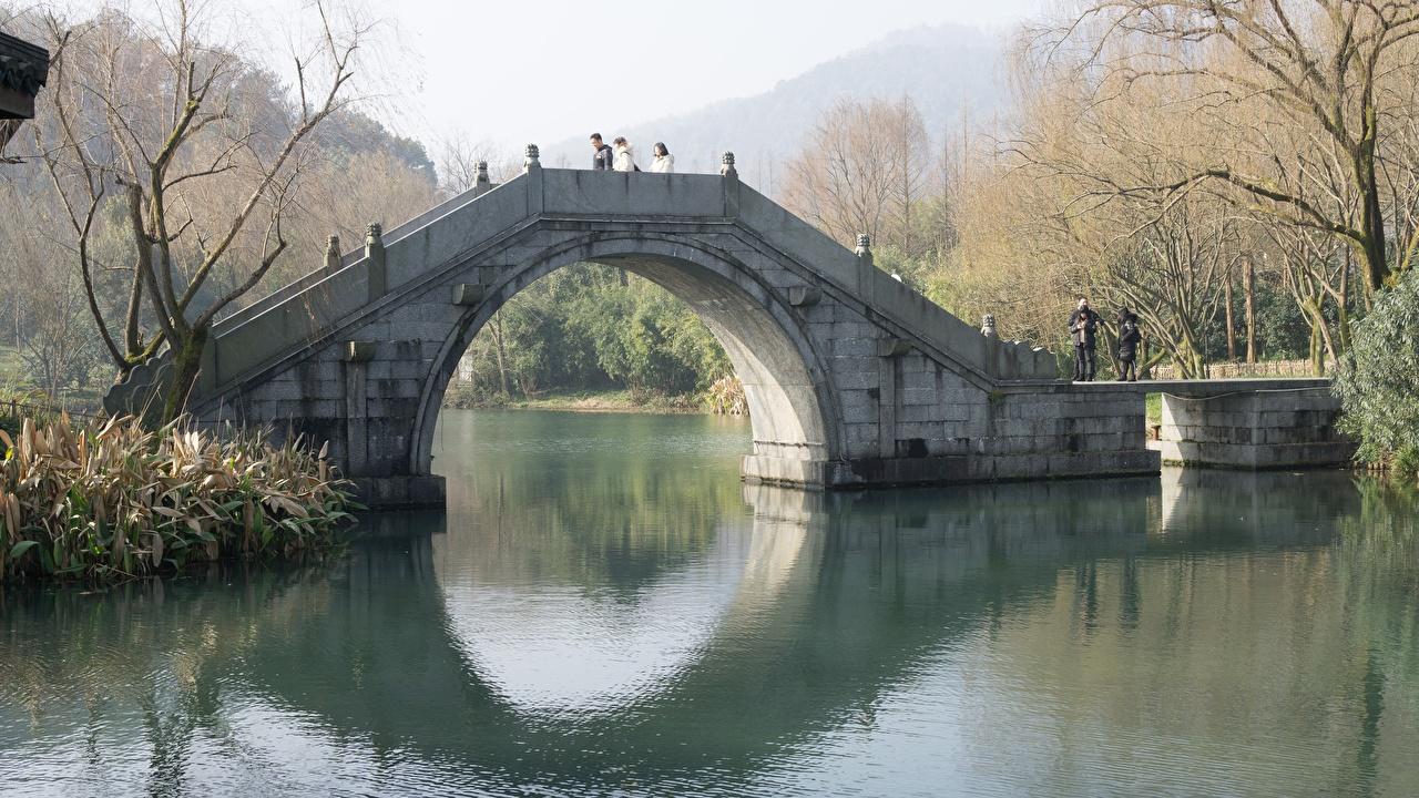 Фотография Китай Арка Moon bridge, Peking Осень Мосты Города осенние