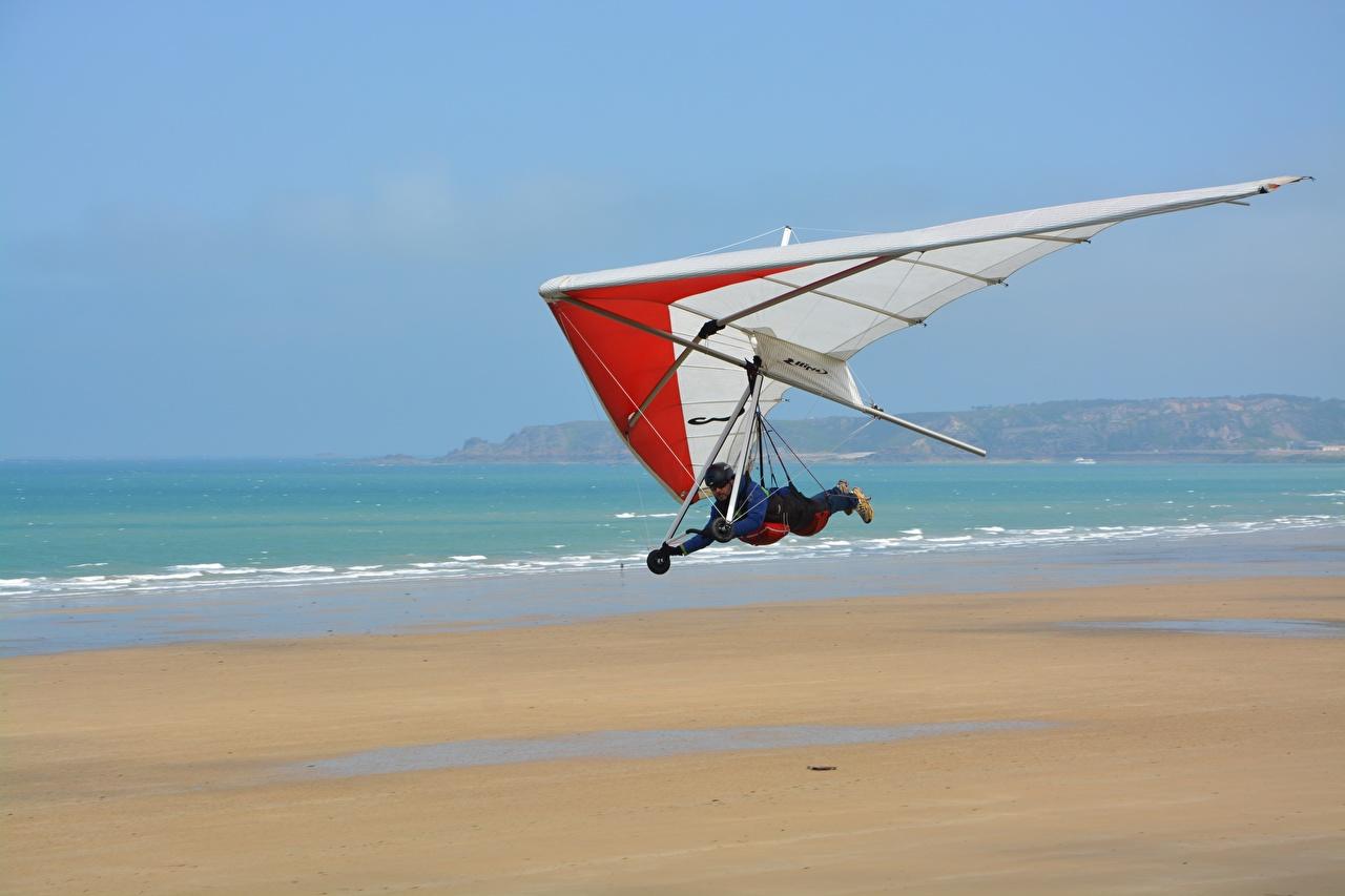 Обои для рабочего стола Hang-gliding спортивные летит Спорт спортивная спортивный летят Полет летящий