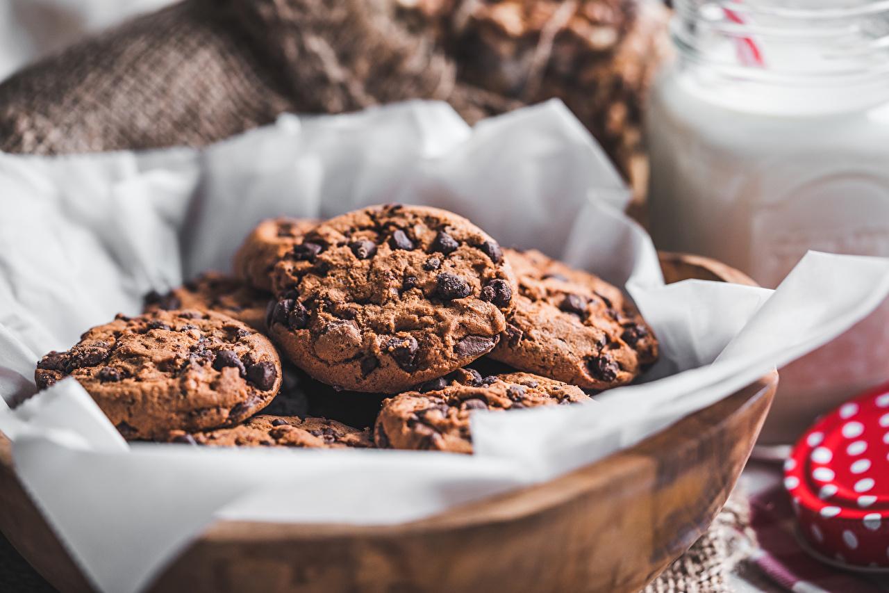 Фотография боке Шоколад Печенье Продукты питания Выпечка Размытый фон Еда Пища