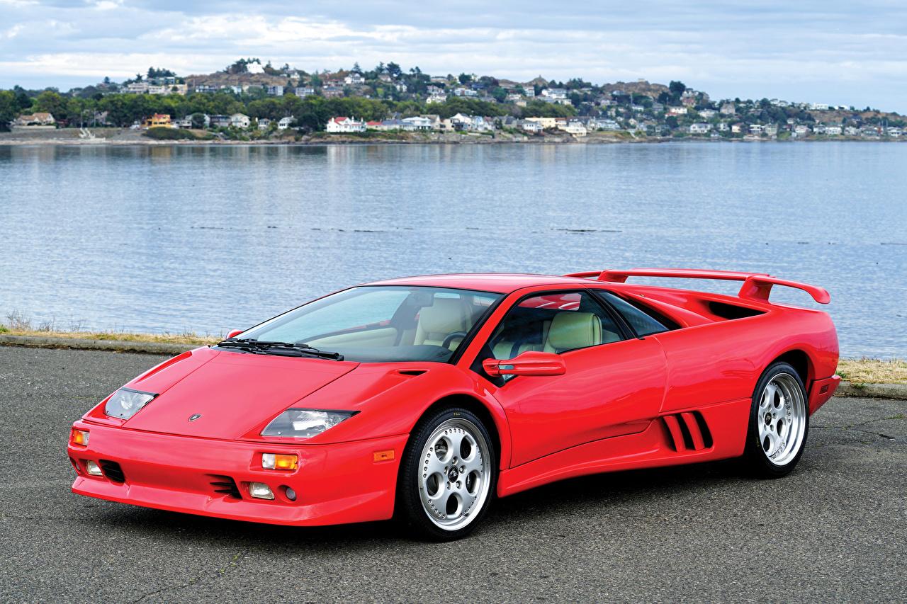Фото Lamborghini 1998-200 Diablo VT Красный Автомобили Ламборгини красных красные красная авто машина машины автомобиль