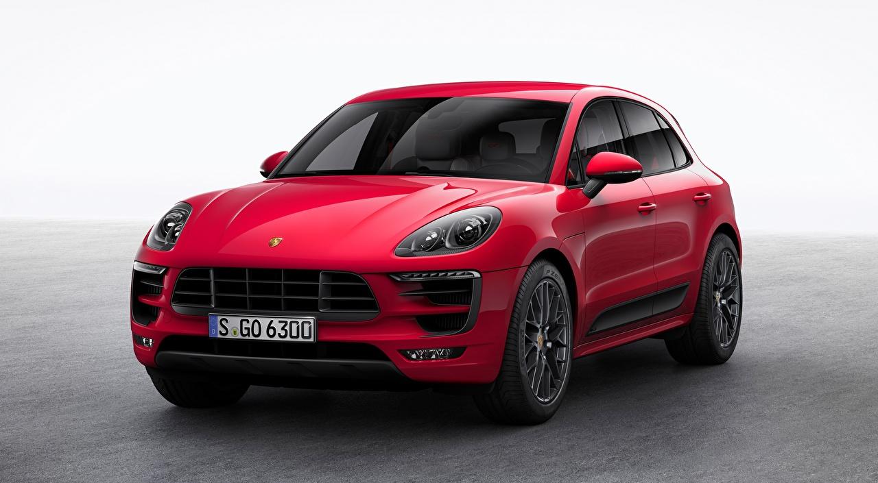 Фотографии Porsche Кроссовер Macan, GTS, 2015 Красный авто Порше CUV красная красные красных машина машины Автомобили автомобиль