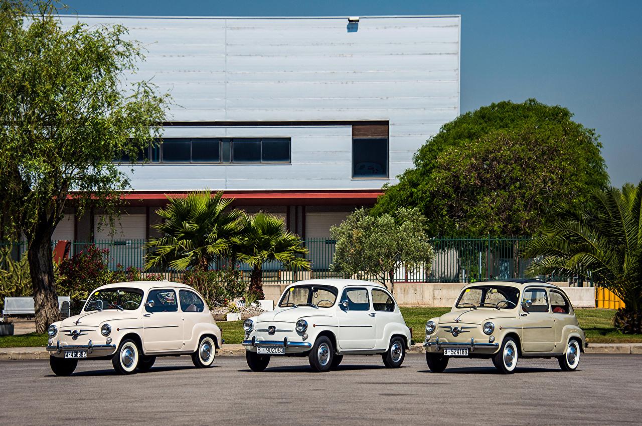 Картинка Сиат 1959-63 Seat 1400 B Furgoneta винтаж авто Трое 3 Ретро старинные три машина машины втроем автомобиль Автомобили