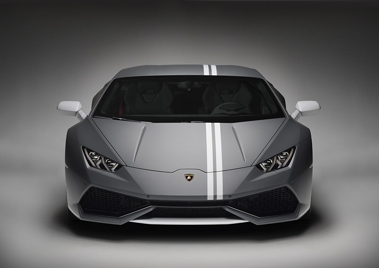 Фотография Ламборгини Huracan LP 610-4 Спереди Автомобили Lamborghini авто машина машины автомобиль